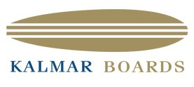 Logo Kalmar Boards, linha de pranchas de stand up paddle e remos do Estaleiro Kalmar