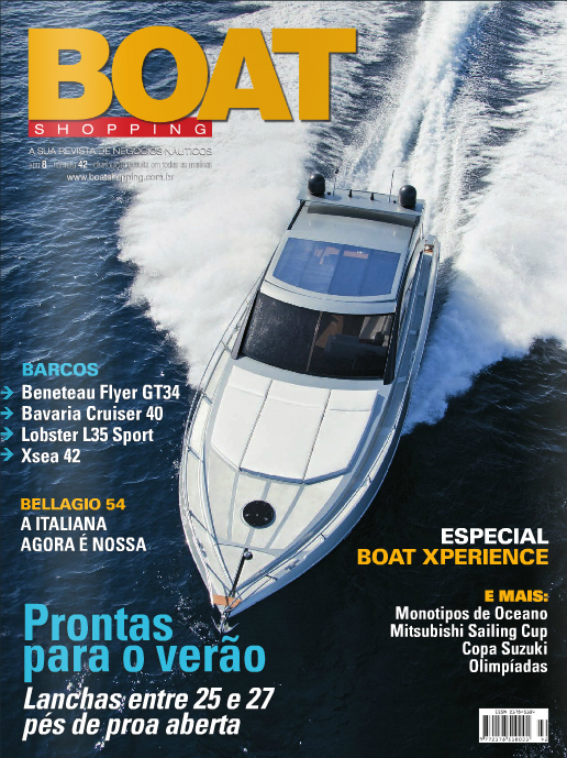 Lobster L35 na revista Boat Shopping - capa