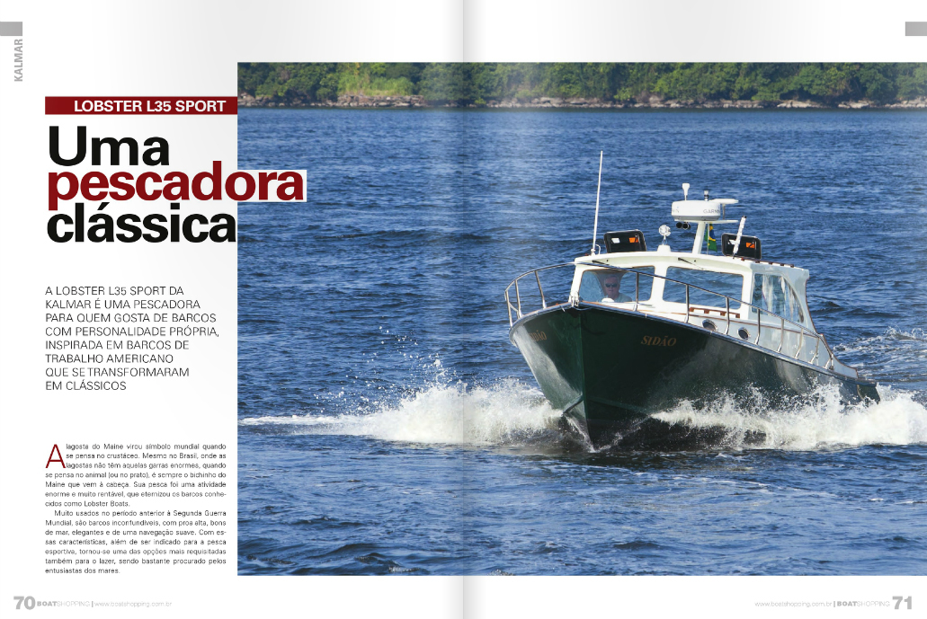 Lobster L35 na revista Boat Shopping