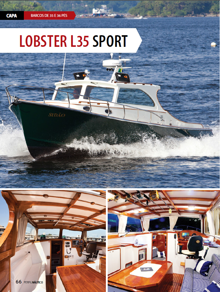 Lobster L35 na revista Perfil Nautico